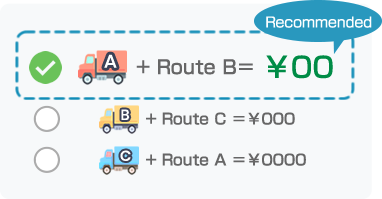 Select the optimal delivery choice!